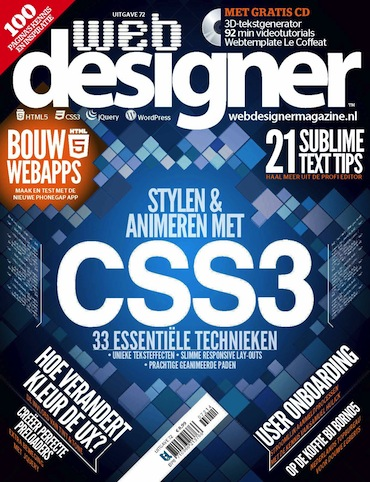 Webdesigner 72, iOS, Android & Windows 10 magazine